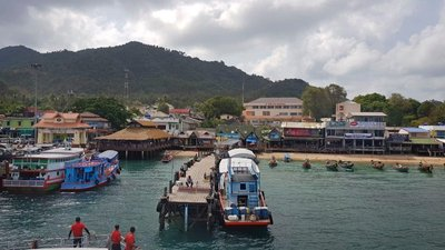View of  Ko Tao Island from the ferry to Ko Pha Ngan