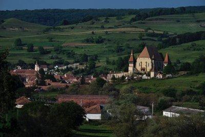 Landscape and church, Biertan