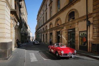 a vintage car rally,