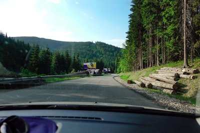 Arriving in Bukovel