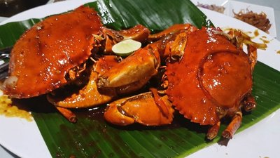 Crab at Jimbaran restaurant, Medan