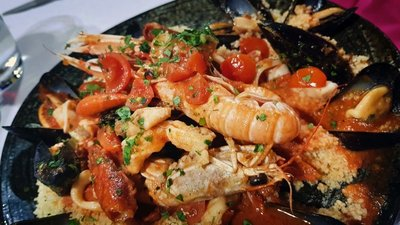 Seafood couscous