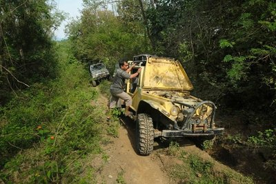 The ride to Jantho through the jungle takes two hours on a dirt track