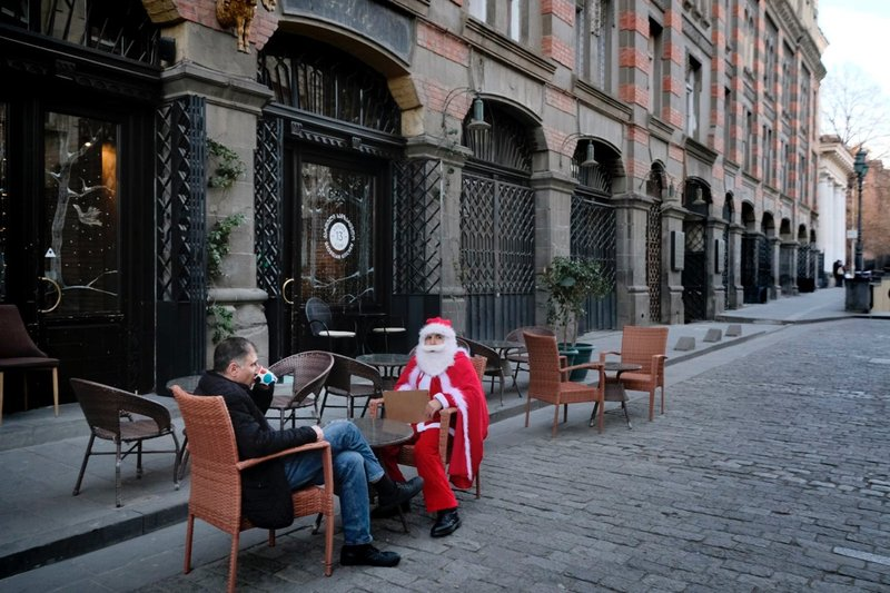 Even Santa Claus needs a break
