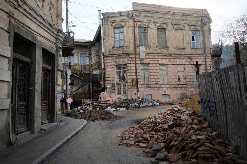 Old Tbilisi under renovation