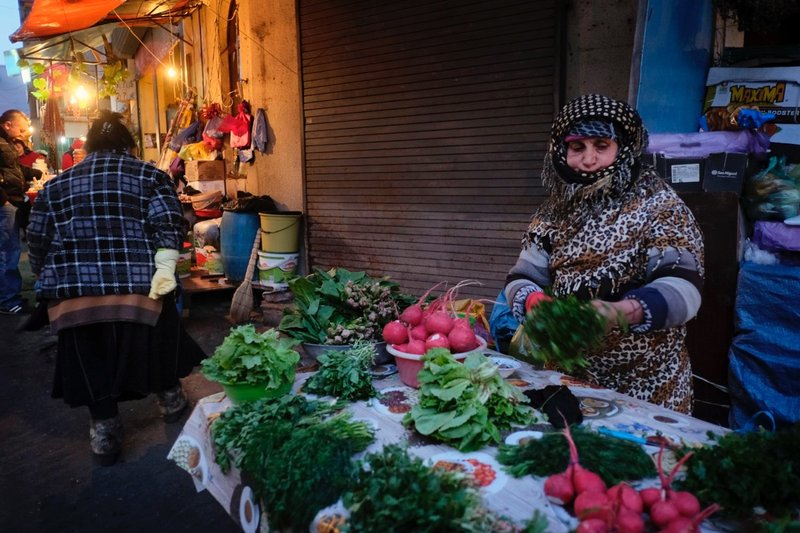 Vendors at Deserter Bazaar. Can you believe those radishes?!