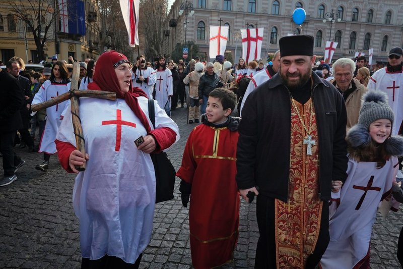 Alilo procession, Orthodox Christmas, Liberty Square