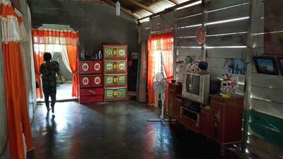 Main room of the home we stayed in during the Langkat rescue
