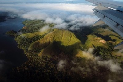 Aerial view Wamena, Papua
