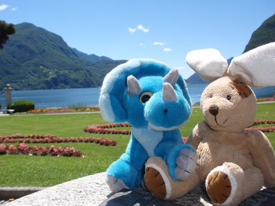 Admiring the view of Lake Lugano