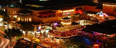 Coconut Grove Shopping Centre at Night