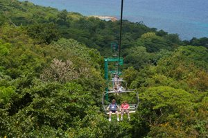 Ski Lift in Rainforest Bobsled Jamaica