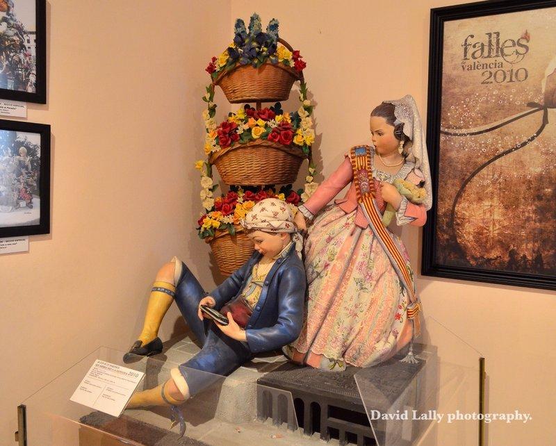 Fallas museum display.