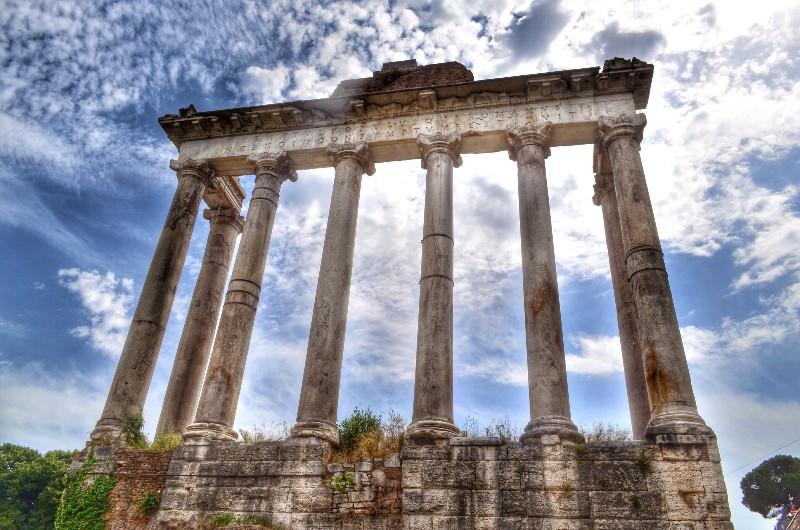 Roman forum temple.