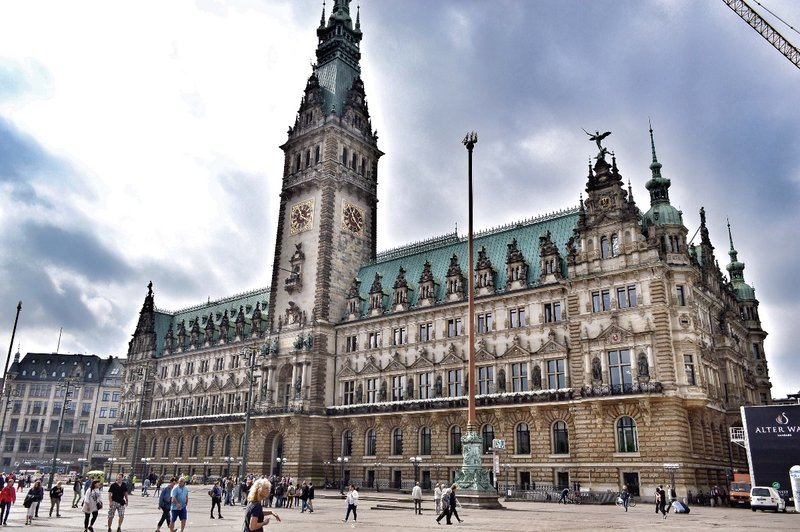 Hamburg town hall.