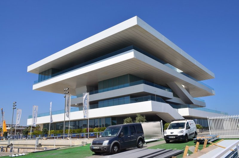 The America's cup building.