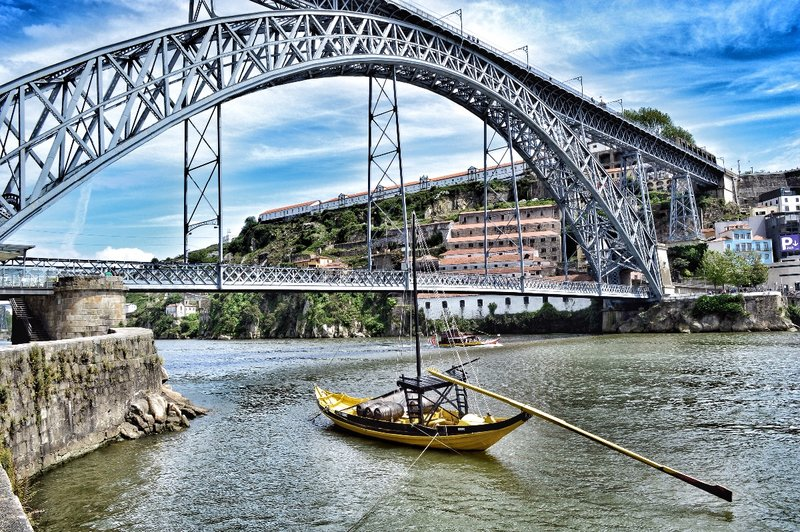 The Dom Luis bridge of Porto.