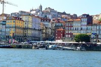 The lively Ribeira district of Porto.