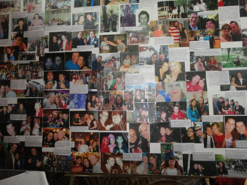 Wedding guest picture board
