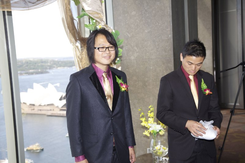 Ed & Shawn during Ceremony