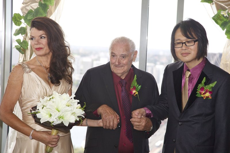 Sue, Max and Ed at ceremony