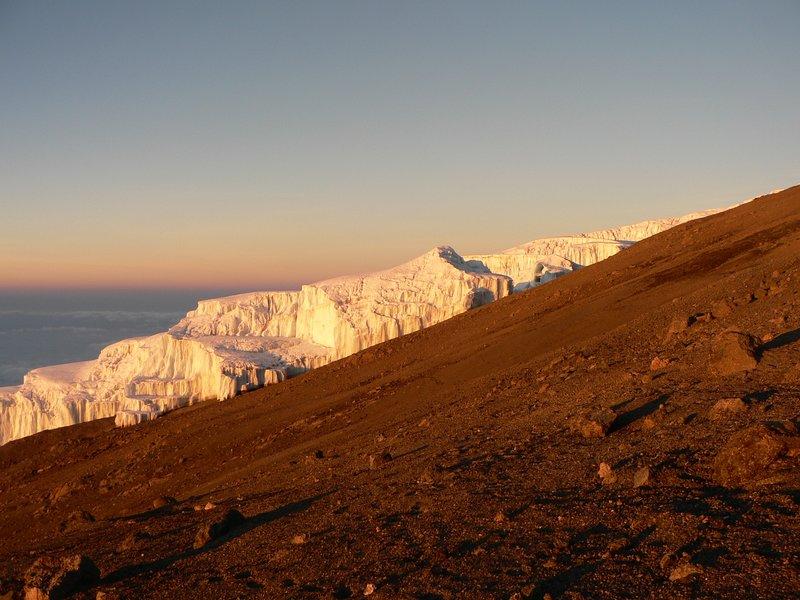 Gletsjer on top of the Kilimanjaro