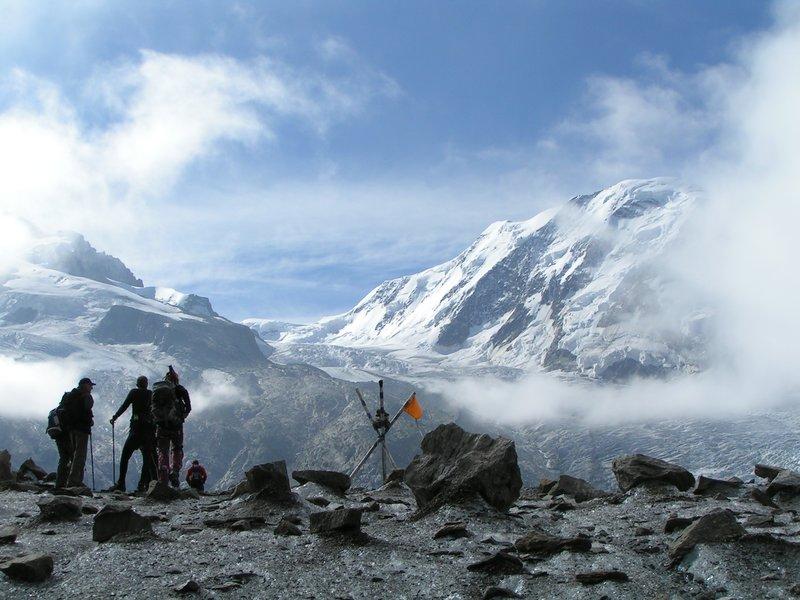 the Monterosa Gletsjer