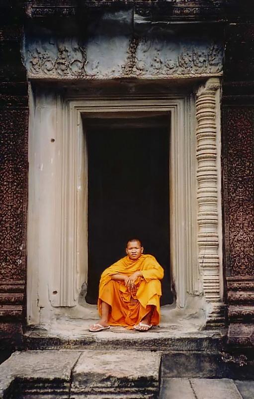 Monk at Angkor