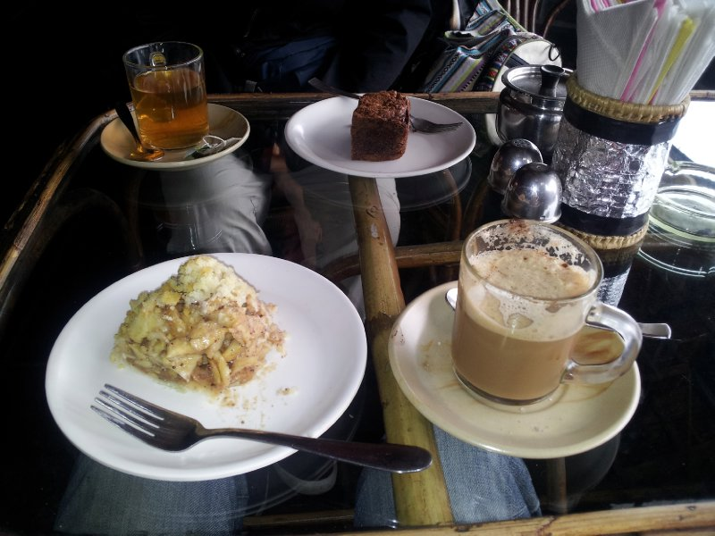 Coffee and Apple Crumble