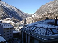 Andorra city after the first 2006 snowfall
