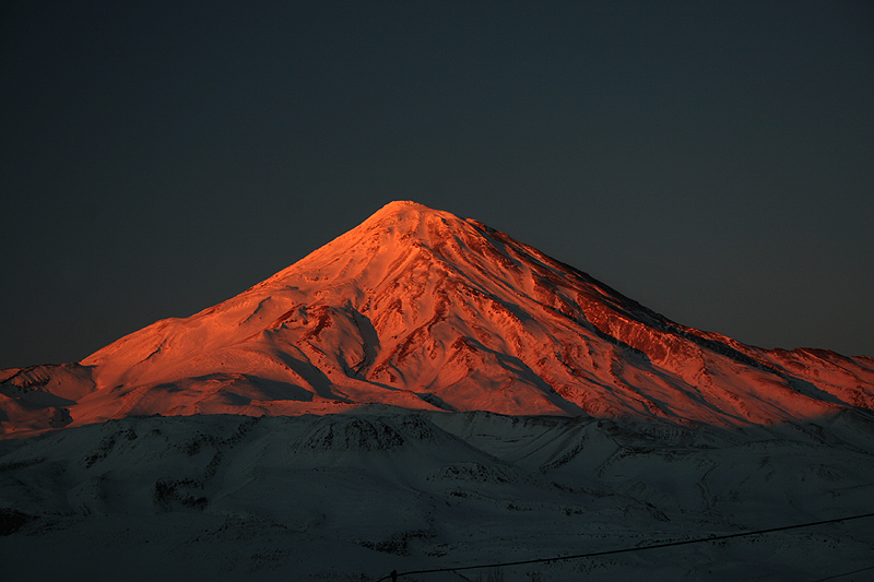 Damavan Peak at sun set