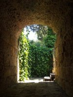 Looking out from amphitheatre, Italica