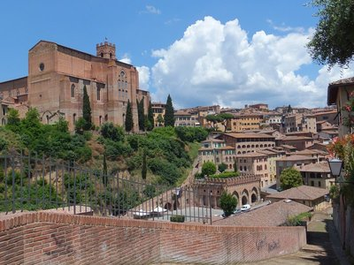Siena, walled city.
