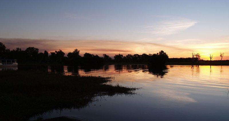 Yellow Water - sunset wide shot