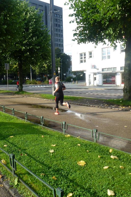 Running through the streets of Bergen