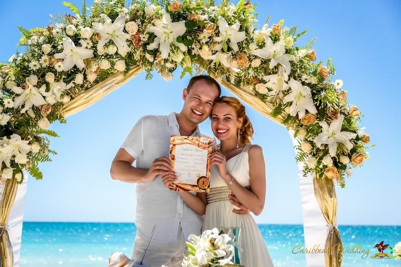 Our wedding ceremony at Cap Cana
