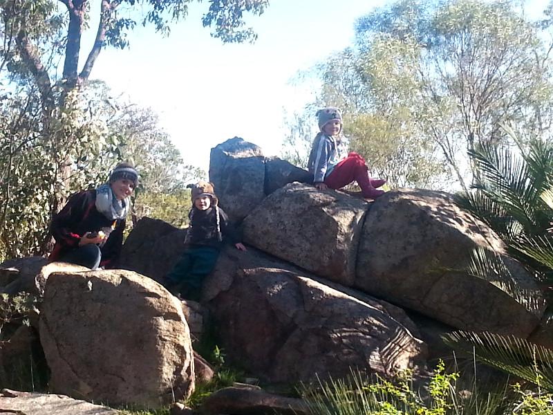 Enjoying the rocks