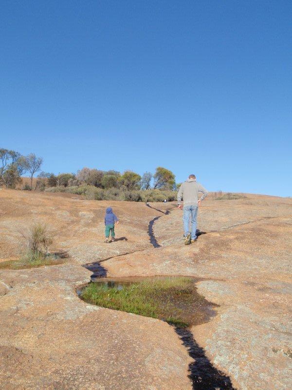 Runoff point atop Hyden Rock