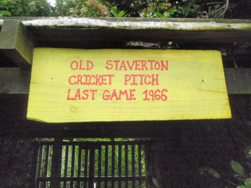 Old Staverton cricket pitch