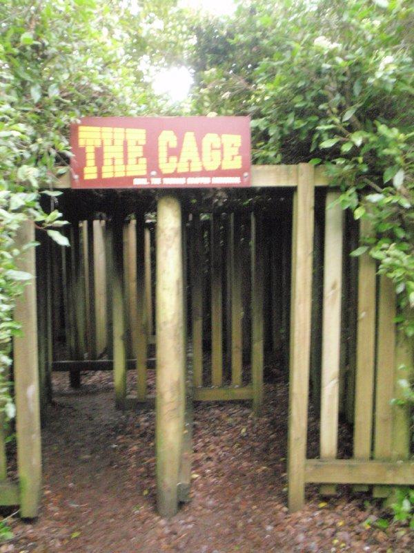 The Cage maze entrance