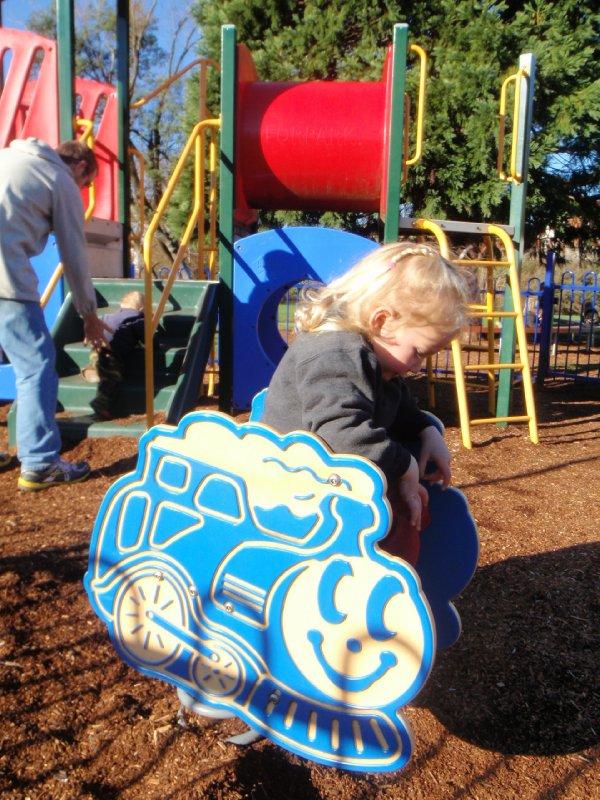 Enjoying the playground