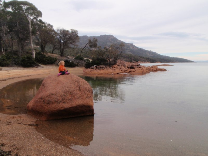 Honeymoon Bay's island rock
