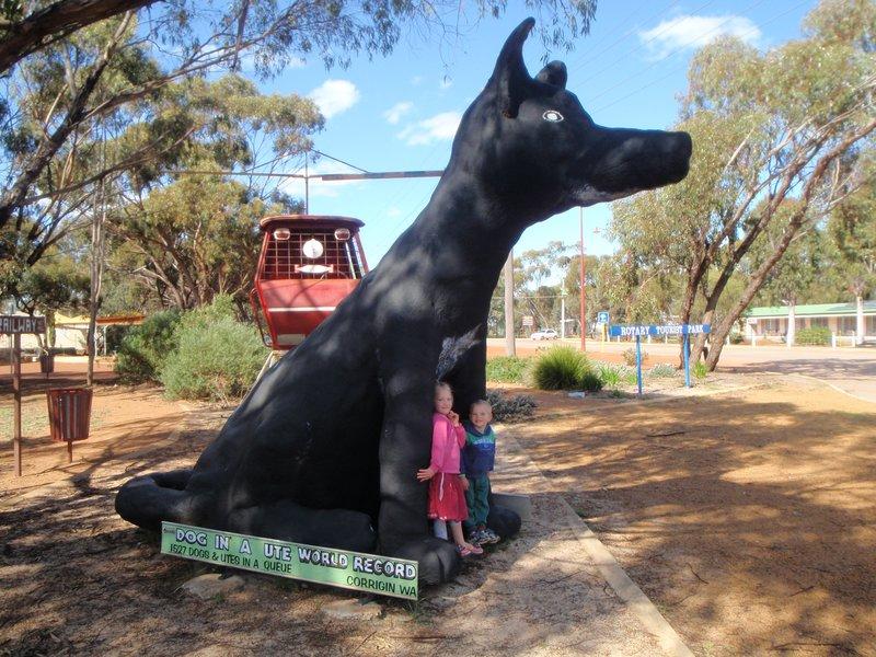 Corrigin dog in a ute monument