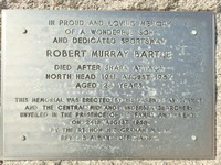 R. M. Bartle Memorial plaque