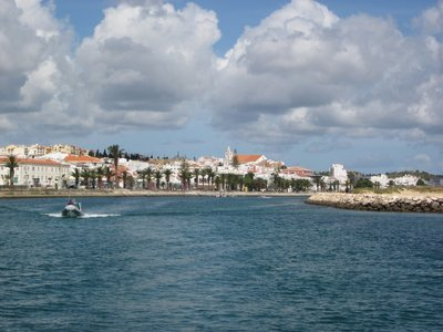 Lagos Portugal - Taking the boat out.