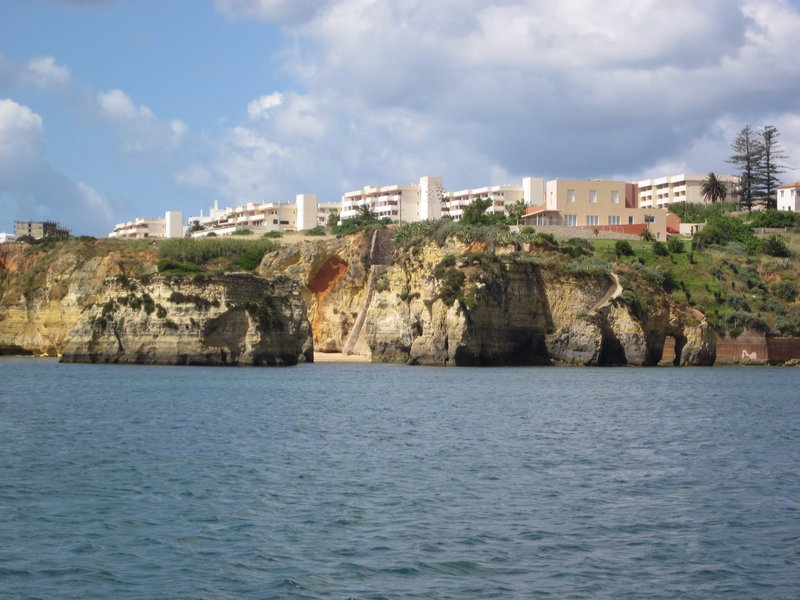 Lagos Portugal - Sailing the boat.