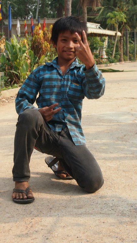 Funny Kid in Battambang