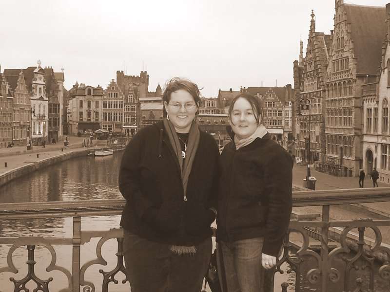 Ana and I in Ghent