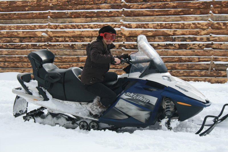 Me on snowmobile