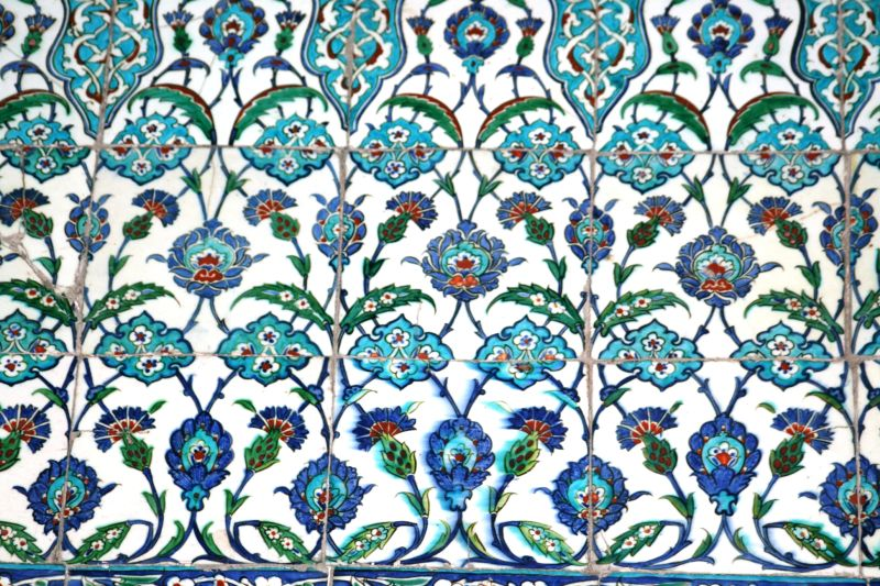 Blue tiles of the Blue Mosque